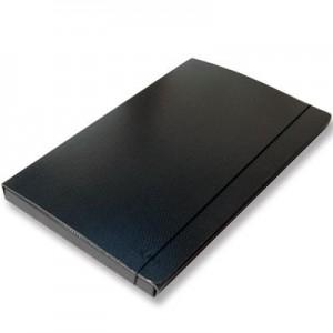 Carpeta 3 solapas Util Of fibra negra 35x50cm