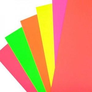 Cartulina Escolar Colores Fluo 48x63cm