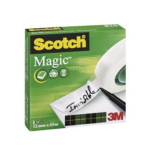 Cinta Adhesiva Scotch Magica c/racionador 18x20mts