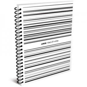 Cuaderno Arte B&W A4 c/espiral x 80h cuad