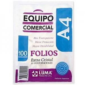 Folio Luma Equipo Comercial PP A4 x 100