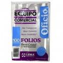 Folio Luma Equipo Comercial PP Oficio x 100