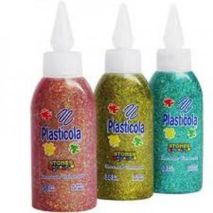Adhesivo vinilico Plasticola Glitter c/brillos 38 gr