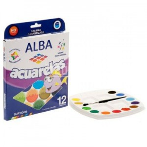 Acuarela Alba x 12 colores.