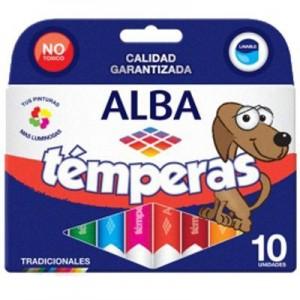 Tempera Alba Pomo x 8cc. x 10 unidades