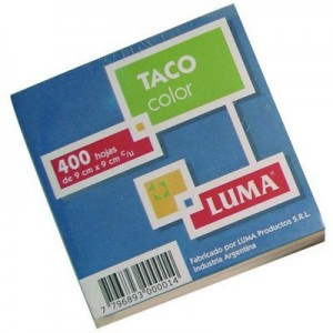Taco Color Luma 9x9cm Color 400 hojas.