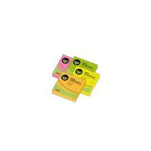 Notas Adhesivas Pizzini 75x75mm. 80 hojas Fluo