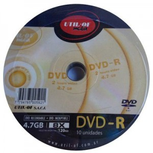Bulk DVD Util Of x 10 unid.