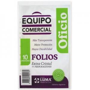 Folio Luma Equipo Comercial PP Oficio x 10 unid.