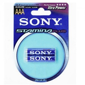Pilas Sony Plus AAA alcalinas Blister x 2 Unidades