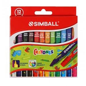 Crayones Simball x 12 colores