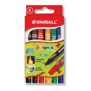 Crayones Simball x 6 colores