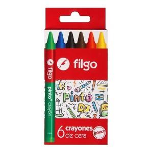 Crayones Filgo x 6 colores