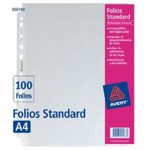 Folio PP Avery A4 x 100