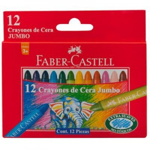 Crayones Faber Castell Jumbo x 12 colores.