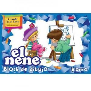 Block de Dibujo El Nene Blanco 24 h