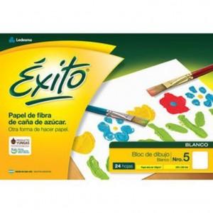 Block de Dibujo Exito blanco x 24 hojas