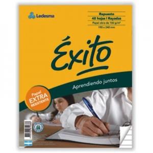 Repuesto Exito Ecologico 96 hojas cuadriculado