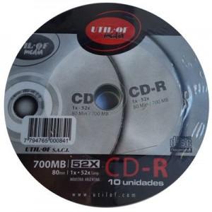 Bulk CD Util Of x 10 unid.