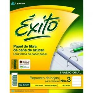 Repuesto Exito Ecologico Rayado x 48 hojas
