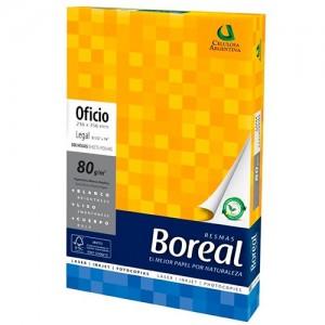 Resma Boreal Oficio 80 grs